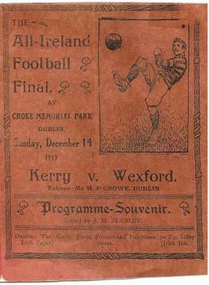 1913 All-Ireland Senior Football Championship Final - Image: 1913 All Ireland Senior Football Championship Final programme