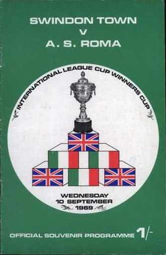 1969 Anglo-Italian League Cup - Match programme cover from second-leg