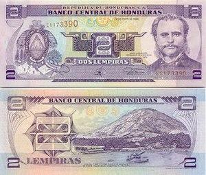 Honduran lempira - Image: 2Lempira