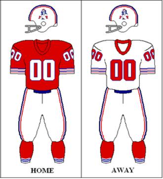 1972 New England Patriots season - Image: AFC 1972 Uniform NE