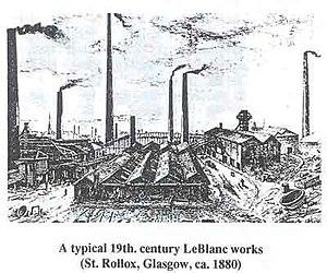 James Muspratt - Image: A Typical Le Blanc Works.St Rollox Glasgow.circa 1880