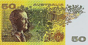 Ian Clunies Ross - From 1973 until 1992 the Australian $50 banknote honoured Sir Ian Clunies Ross CMG
