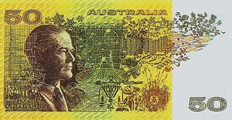 Australian fifty-dollar note - The back of the note