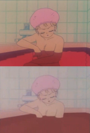 Sailor Moon (anime) - During the original North American airing, some bathing scenes involving brief nudity were censored.