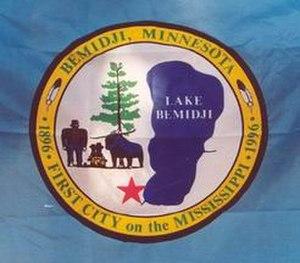 Bemidji, Minnesota - Image: Bemidjiflag