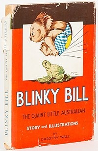 Copy of the 1939 cover of The Complete Adventures of Blinky Bill by Dorothy Wall