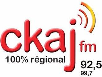 CKAJ-FM - Image: CKAJ ckaj 92,5 99,7 logo