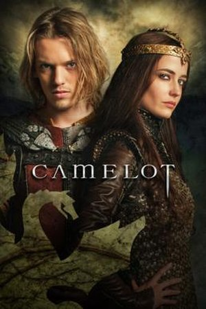 Camelot (TV series) - Promotional poster, showing Jamie Campbell Bower as Arthur and Eva Green as Morgan
