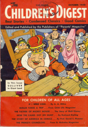 Children's Digest - The front cover of the October 1950 issue of Children's Digest, the first issue of this publication
