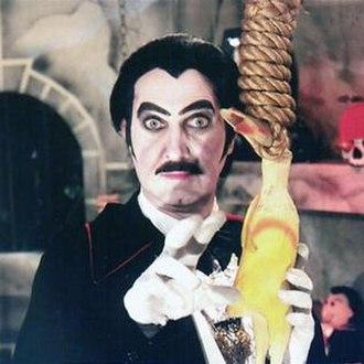 """Count Gore de Vol - Dick Dyszel as """"Count Gore de Vol"""""""