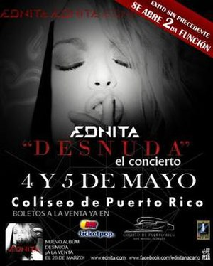 Desnuda (album) - Promotional poster for Ednita's tour