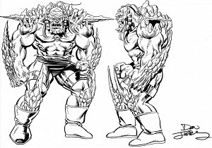 Doomsday (comics) - Concept art for Doomsday by Dan Jurgens.
