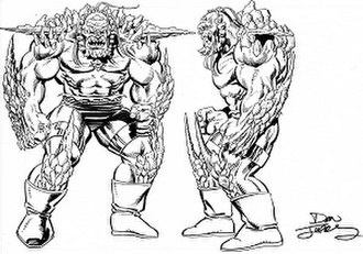 Doomsday (DC Comics) - Concept art for Doomsday by Dan Jurgens.