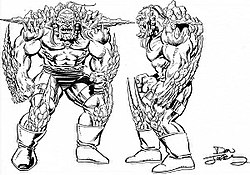 doomsday coloring pages | Doomsday, concept art by Dan Jurgens