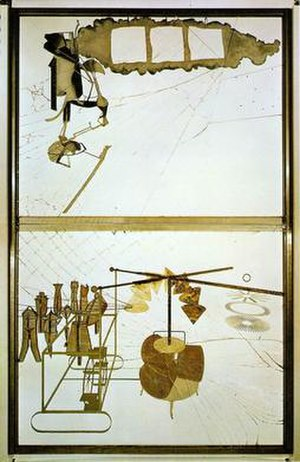 The Bride Stripped Bare by Her Bachelors, Even - Image: Duchamp Large Glass