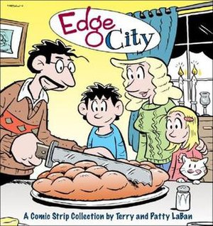 Terry LaBan - The cover from the Edge City collection, by Terry and Patty LaBan. Published by Andrews McMeel.