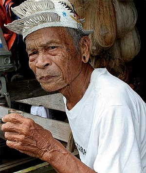 Punan Bah - Image: Elderly Punan man