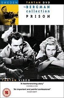 <i>Prison</i> (1949 film) 1949 Swedish drama film directed by Ingmar Bergman