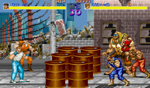 Final Fight (video game) - Cody and Guy at the start of the game's first level