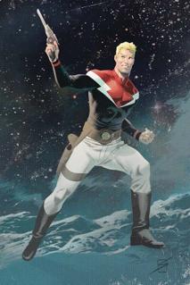 Flash Gordon comic strip protagonist created by Alex Raymond