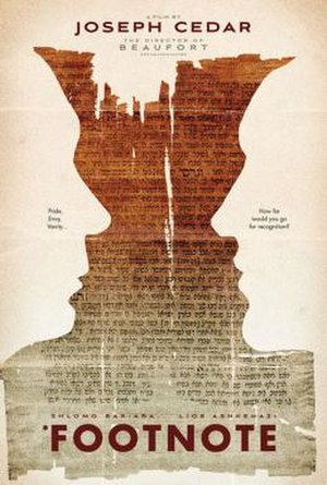 Footnote (film) - International festival poster