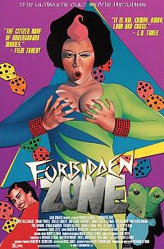 Forbidden Zone - Theatrical reissue poster