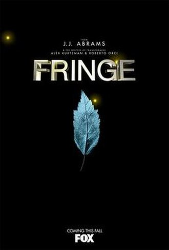 Fringe (TV series) - Marketing posters used to promote the series often featured one of the glyphs used in the show's interstitial, each being a twist on a common image. Pictured here is a leaf with an embedded Greek capital letter delta.