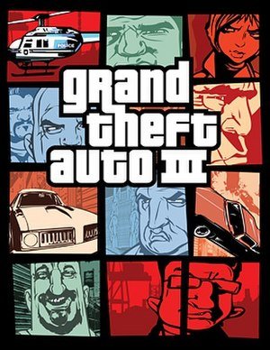 Grand Theft Auto III - North American cover art design for Grand Theft Auto III
