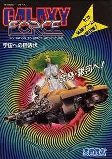 <i>Galaxy Force</i> 1988 shoot em up arcade game