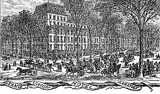 Grand Union Hotel Stakes - The Grand Union Hotel c.1870