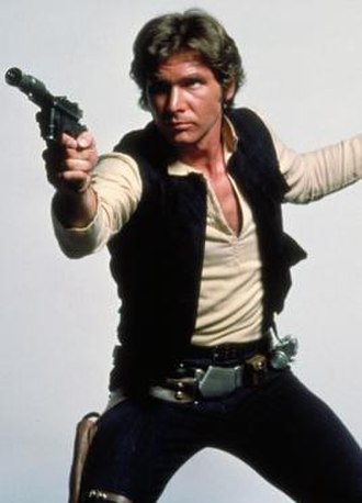 Han Solo - Harrison Ford as Han Solo in promotional image for Star Wars