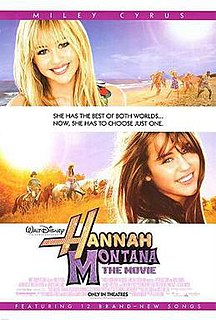 <i>Hannah Montana: The Movie</i> 2009 Walt Disney Pictures musical comedy-drama film directed by Peter Chelsom