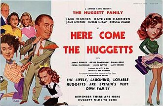 Here Come the Huggetts - Image: Here Come the Huggetts (1948 movie poster)