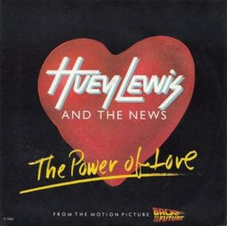 The Power of Love (Huey Lewis and the News song) - Image: Huey lewis and the news the power of love chysalis US German cover