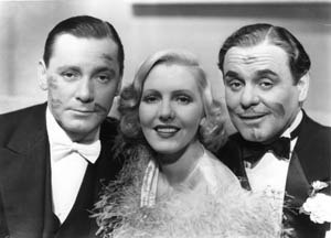 If You Could Only Cook - Jean Arthur's lipstick traces on Herbert Marshall (left) and Leo Carrillo