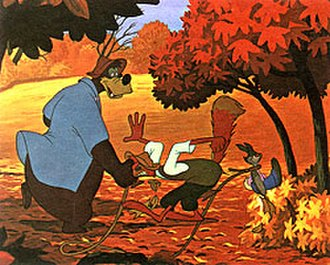 "Song of the South - Br'er Rabbit takes Br'er Fox and Br'er Bear to his ""laughing place"""