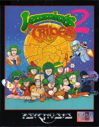 Lemmings 2: The Tribes - Cover art for Lemmings 2