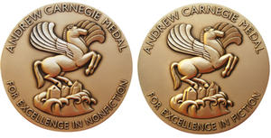 Andrew Carnegie Medals for Excellence in Fiction and Nonfiction - Image: Logo of The Andrew Carnegie Medals for Excellence in Fiction & Nonfiction