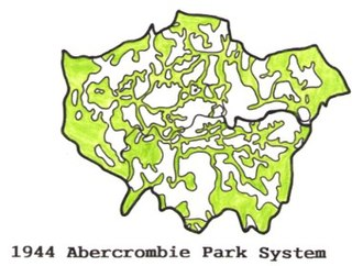 Park system - The County of London Park System, planned by Patrick Abercrombie in 1943-4