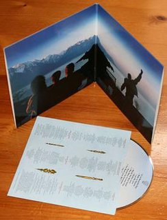 Gatefold form of packaging for records, typically LPs