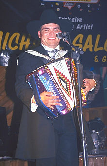 Michael salgado playing the accordion