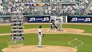 Major League Baseball 2K9 - Tim Lincecum on the mound.