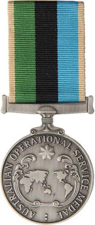Australian Operational Service Medal - Image: Operational Service Medal Greater Middle East Operation medal
