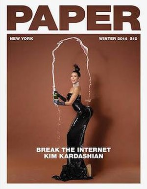"Paper (magazine) - November 2014 ""Break the Internet"" cover featuring Kim Kardashian"