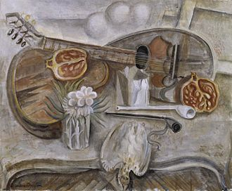 André Masson - Pedestal Table in the Studio (1922)