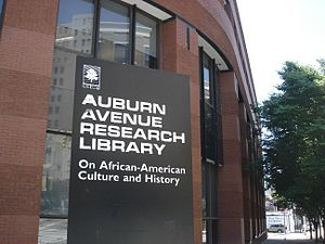 Auburn Avenue Research Library on African American Culture and History - Image: Picture of Auburn Avenue Research Library