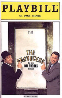Playbill magazine cover featuring The Producers