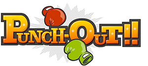 Punch-Out!! - The most recent Punch-Out!! series logo. Based on the title screen logo of the original Punch-Out!! arcade game.