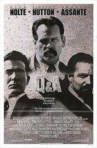 Q&A (film) - Theatrical release poster