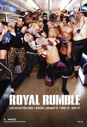 Royal Rumble (2008) - Promotional poster featuring several WWE wrestlers